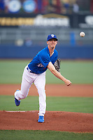 Tulsa Drillers starting pitcher Walker Buehler (4) delivers a warmup pitch during a game against the Corpus Christi Hooks on June 3, 2017 at ONEOK Field in Tulsa, Oklahoma.  Corpus Christi defeated Tulsa 5-3.  (Mike Janes/Four Seam Images)