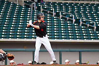 Nick Biddison (4) of Saint Chrisophers High School in Glen Allen, Virginia during the Under Armour All-American Pre-Season Tournament presented by Baseball Factory on January 14, 2017 at Sloan Park in Mesa, Arizona.  (Freek Bouw/MJP/Four Seam Images)