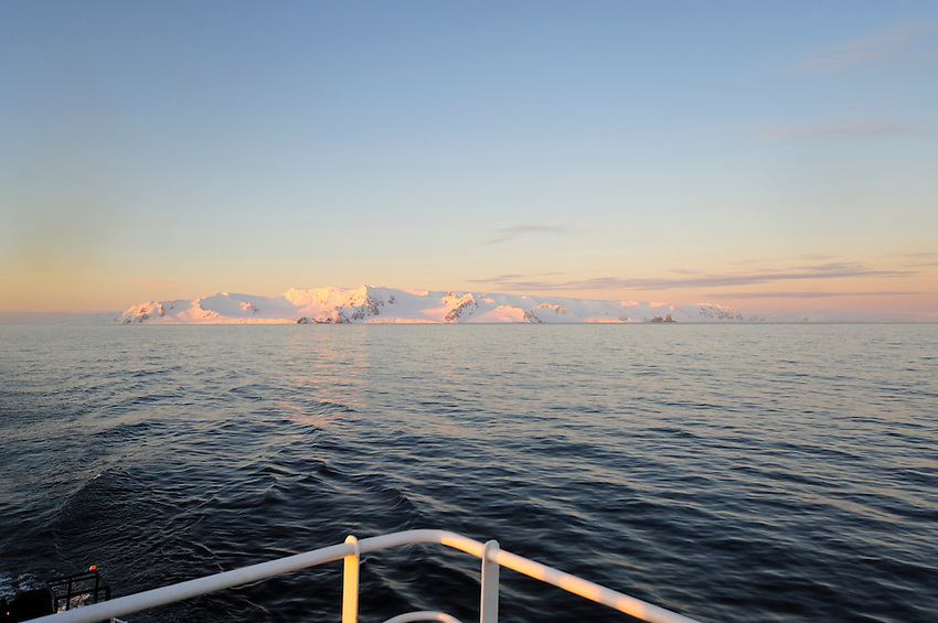 Goodbye to Half Moon Island - Sunset after departing Half Moon Island