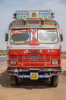 Rajasthan, India.  Cargo Truck, Goods Carrier.