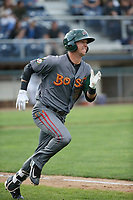 Matt McLaughlin (54) of the Boise Hawks runs the bases during a game against the Everett AquaSox at Everett Memorial Stadium on July 20, 2017 in Everett, Washington. Everett defeated Boise, 13-11. (Larry Goren/Four Seam Images)