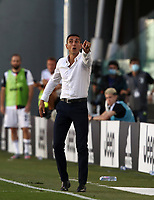 Calcio, Serie A: Juventus - Torino, Turin, Allianz Stadium, July 4, 2020.<br /> Torino's coach Moreno Longo speaks to his players during the Italian Serie A football match between Juventus and Torino at the Allianz stadium in Turin, July 4, 2020.<br /> UPDATE IMAGES PRESS/Isabella Bonotto