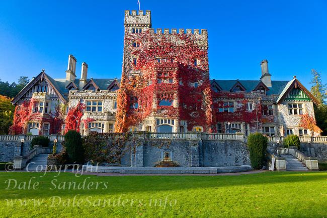 Hatley Castle at Royal Roads University, Victoria, British Columbia, Canada.