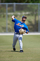 New York Mets Anthony Dimino (9) during practice before a minor league Spring Training game against the Miami Marlins on March 26, 2017 at the Roger Dean Stadium Complex in Jupiter, Florida.  (Mike Janes/Four Seam Images)