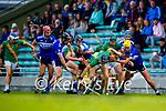 Stephen Leen, Saint Brendan's, in action against Ronan Walsh, Kilmoyley, during the County Senior hurling Final between Kilmoyley and Saint Brendan's at Austin Stack park on Sunday.