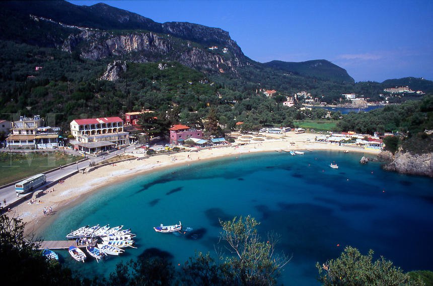 Greece.Corfu. Paleokastritsa Beach.