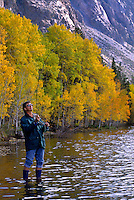 Jim FLY FISHES on GRANTS LAKE on a beautiful autumn day - GRANTS LAKE, CALIFORNIA (MR)