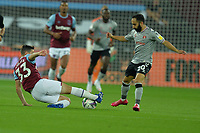 Josh Cullen of West Ham United wins the ball from Ashley Maynard-Brewer of Charlton Athletic FC during West Ham United vs Charlton Athletic, Caraboa Cup Football at The London Stadium on 15th September 2020