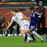 Lauren Cheney, Nahori Kawasumi.  Japan won the FIFA Women's World Cup on penalty kicks after tying the United States, 2-2, in extra time at FIFA Women's World Cup Stadium in Frankfurt Germany.