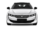 Car photography straight front view of a 2019 Peugeot 508 First Edition 5 Door Wagon