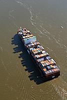 Containerschiff APL Vanda auf der Elbe : EUROPA, DEUTSCHLAND, HAMBURG, NIEDERSACHSEN, SCHLESWIG HOLSTEIN  (EUROPE, GERMANY), 06.09.2013:Containerschiff APL Vanda auf der Elbe