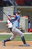 Blake Lalli #32 of the Tennessee Smokies at bat during a game against the Carolina Mudcats on April 20, 2010 in Zebulon, NC.