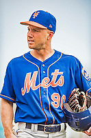 28 February 2019: New York Mets  outfielder Kevin Kaczmarski arrives for a  Spring Training game against the St. Louis Cardinals at Roger Dean Stadium in Jupiter, Florida. The Mets defeated the Cardinals 3-2 in Grapefruit League play. Mandatory Credit: Ed Wolfstein Photo *** RAW (NEF) Image File Available ***