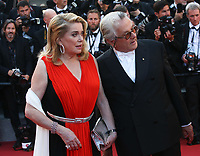 CATHERINE DENEUVE AND GEORGE MILLER - RED CARPET OF THE 70TH ANNIVERSARY CEREMONY AT THE 70TH FESTIVAL OF CANNES 2017
