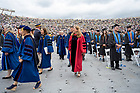 May 23, Erin Hoffmann Harding, Vice President for Student Affairs in the procession for the 176th Commencement Ceremony at Notre Dame Stadium. (Photo by Barbara Johnston/University of Notre Dame)