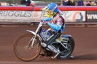 Heat 1: Kim Nilsson of Lakeside - Vortex Lakeside Hammers vs Kings Lynn Stars - Sky Sports Elite League Speedway at Arena Essex Raceway, Purfleet - 23/04/13 - MANDATORY CREDIT: Gavin Ellis/TGSPHOTO - Self billing applies where appropriate - 0845 094 6026 - contact@tgsphoto.co.uk - NO UNPAID USE.