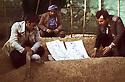 Iran 1979 <br /> Roj Shawess visiting the grave of General Barzani in Sheno<br /> Iran 1979<br /> Roj shawess sur la tombe du general Barzani a Sheno