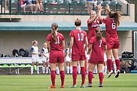 STANFORD, CA - September 3, 2017: Jordan DiBiasi,Tierna Davidson,Jaye Boissiere,Carly Malatskey,Civana Kuhlmann at Cagan Stadium. Stanford defeated Navy 7-0.