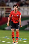 Kim Jinsu of South Korea takes a throw-in during the AFC Asian Cup UAE 2019 Group C match between South Korea (KOR) and China (CHN)  at Al Nahyan Stadium on 16 January 2019 in Abu Dhabi, United Arab Emirates. Photo by Marcio Rodrigo Machado / Power Sport Images