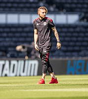 18th July 2021; Pride Park, Derby, East Midlands; Pre Season Friendly Football, Derby County versus Manchester United;  Alex Telles of Manchester United inspects the playing surface