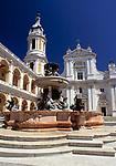 ITA, Italien, Marken, Marienwallfahrtsort Loreto: Basilika + Brunnen auf der Piazza della Madonna | ITA, Italy, Marche, Loreto: Basilica + fountain at Piazza della Madonna