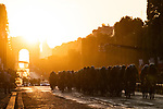 The peloton on the Champs-Elysees during Stage 21 of the 2019 Tour de France running 128km from Rambouillet to Paris Champs-Elysees, France. 28th July 2019.<br /> Picture: ASO/Pauline Ballet   Cyclefile<br /> All photos usage must carry mandatory copyright credit (© Cyclefile   ASO/Pauline Ballet)