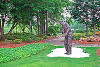 The Georgia Golf Hall of Fame's Botanical Garden Raymond Floyd statue  Augusta Georgia