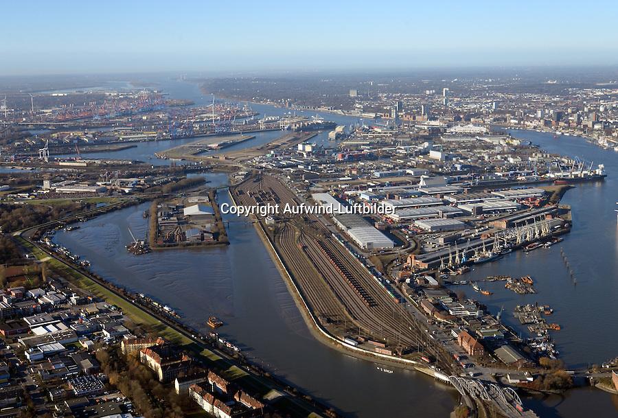 Hafenbahnhof am Veddeler Damm: EUROPA, DEUTSCHLAND, HAMBURG, (EUROPE, GERMANY), 02.12.2016: Hafenbahnhof am Veddeler Damm