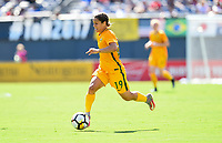San Diego, CA - Sunday July 30, 2017: Katrina Gorry during a 2017 Tournament of Nations match between the women's national teams of the Australia (AUS) and Japan (JAP) at Qualcomm Stadium.