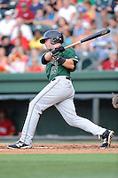 Craig Massoni () of the Augusta GreenJackets bats in a game against the Greenville Drive on Friday, July 11, 2014, at Fluor Field at the West End in Greenville, South Carolina. Greenville won, 7-6. (Tom Priddy/Four Seam Images)