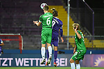 25.09.2020, Stadion an der Bremer Brücke, Osnabrück, GER, 2. FBL VfL Osnabrück vs. Hannover 96<br />  <br />im Bild<br />Jaka Bijol (Hannover 96, 6) und Christian Santos (VfL Osnabrück, 9) im Kopfballduell.<br /><br />DFL regulations prohibit any use of photographs as image sequences and/or quasi-video. <br /><br />Foto © nordphoto / Paetzel