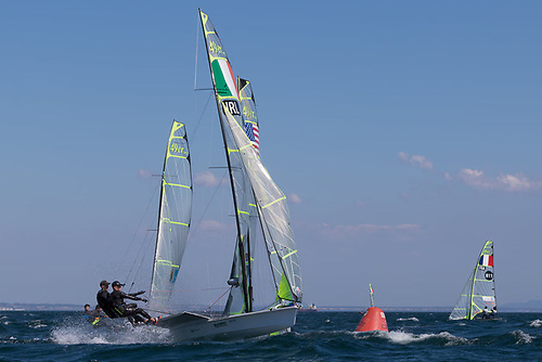 Blasting it - Tokyo Olympic bound duo Dickson & Waddilove on their way to second overall in Cascais