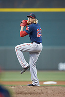 Salem Red Sox relief pitcher Jordan Weems (23) in action against the Winston-Salem Dash at BB&T Ballpark on April 21, 2018 in Winston-Salem, North Carolina.  The Dash walked-off the Red Sox 4-3.  (Brian Westerholt/Four Seam Images)
