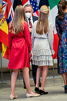 OVIEDO, SPAIN-October 16: **NO SPAIN** Crown Princess Leonor, Princess Sofia attends an Audience with Princess of Asturias awards winners during Princess of Asturias Awards 2020 at Reconquista Hotel on October 16, 2020 in Oviedo, Spain. <br /> CAP/MPI/RJO<br /> ©RJO/MPI/Capital Pictures