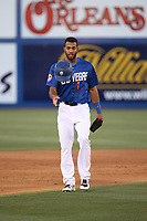 Amed Rosario (1) of the Las Vegas 51s removes his helmet during a game against the Sacramento River Cats at Cashman Field on June 15, 2017 in Las Vegas, Nevada. Las Vegas defeated Sacramento, 12-4. (Larry Goren/Four Seam Images)
