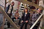"""The Killers behind the El Capitan Theatre Wednesday in Hollywood October 04, 2006. The band's debut album, """"Hot Fuss"""" became a worldwide hit, and now they're back with the crucial follow-up."""
