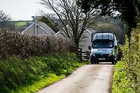 2017 03 24 Police search house of London terrorist Khalid Masood's mother in Trelech, Wales, UK