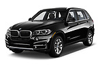 2018 BMW X5 xDrive35d 5 Door SUV angular front stock photos of front three quarter view