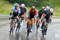 4th July 2021; Tignes, France;  TEUNS Dylan (BEL) of BAHRAIN VICTORIOUS and ALAPHILIPPE Julian (FRA) of DECEUNINCK - QUICK-STEP during stage 9 of the 108th edition of the 2021 Tour de France cycling race, a stage of 144,9 kms between Cluses and Tignes on July 4
