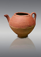 Assyrian Traders terra cotta imported teapot with side spout . 1900 - 1600 BC. Çorum Archaeological Museum, Corum, Turkey
