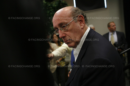Kenner, Louisiana.August 18, 2010..COMPENSATION AND LOSS: Town Meeting and press conference held by Ken Feinberg, the head of the new Gulf Coast Claims Facility which replaces BP in compensating people and businesses that have lost their livelihoods resulting from the Deepwater Horizon Oil Spill.