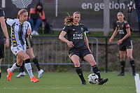 Lenie Onzia (8) of OHL pictured during a female soccer game between Sporting Charleroi and Oud Heverlee Leuven on the 17 th matchday of the 2020 - 2021 season of Belgian Scooore Womens Super League , tuesday 30 th of March 2021  in Marcinelle , Belgium . PHOTO SPORTPIX.BE | SPP | STIJN AUDOOREN
