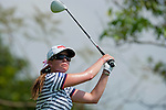 CHON BURI, THAILAND - FEBRUARY 19:  Paula Creamer of USA tees off on the 3rd hole during day three of the LPGA Thailand at Siam Country Club on February 19, 2011 in Chon Buri, Thailand.  Photo by Victor Fraile / The Power of Sport Images