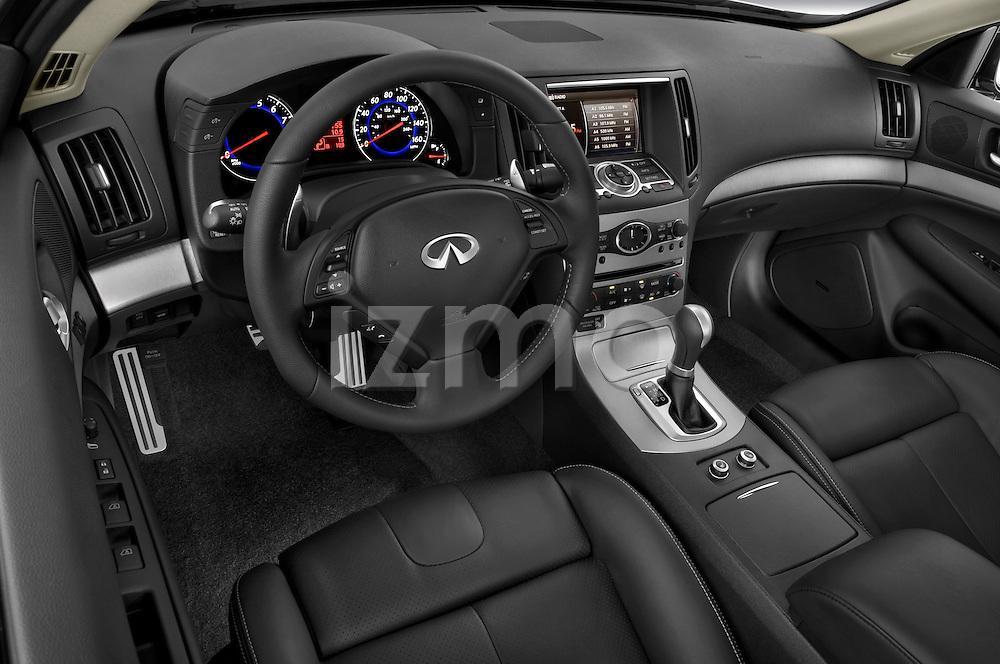High angle dashboard view of a  2009 Infiniti G37 S Sedan