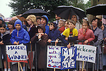 Maggie Margaret Thatcher Conservative party supports General Election campaign trail 1983.  UK