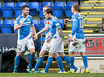 St Johnstone v Celtic…05.02.17     SPFL    McDiarmid Park<br />Keith Watson celebrates his goal<br />Picture by Graeme Hart.<br />Copyright Perthshire Picture Agency<br />Tel: 01738 623350  Mobile: 07990 594431