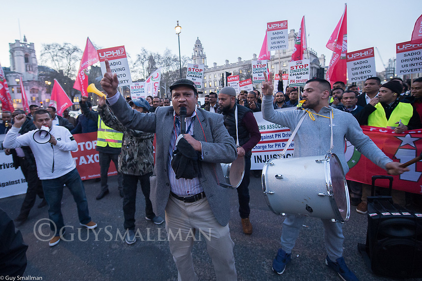 UPHD demo outside Parliament over the conjection charge. London 25-2-19