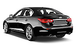 Car pictures of rear three quarter view of a 2015 Infiniti Q50 Sport 4 Door Sedan angular rear