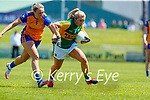 Andrea Murphy, Kerry in action against Roisin Looney, Clare in the Lidl Ladies National Football League Division 2A Round 2 at Austin Stack Park, Tralee on Sunday.
