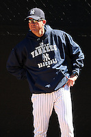 February 25, 2010:  Pitching Coach Dave Eiland of the New York Yankees during practice at Legends Field in Tampa, FL.  Photo By Mike Janes/Four Seam Images
